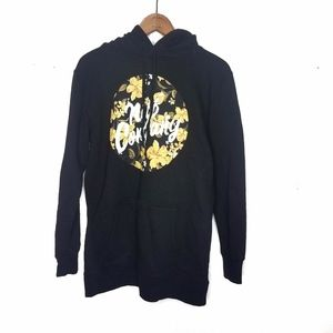 Neff Company Men's Black Floral Detailed Hoodie